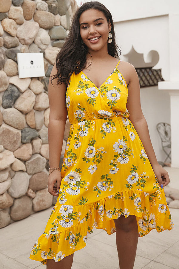 Plus Size Floral Print Camisole Summer Dress