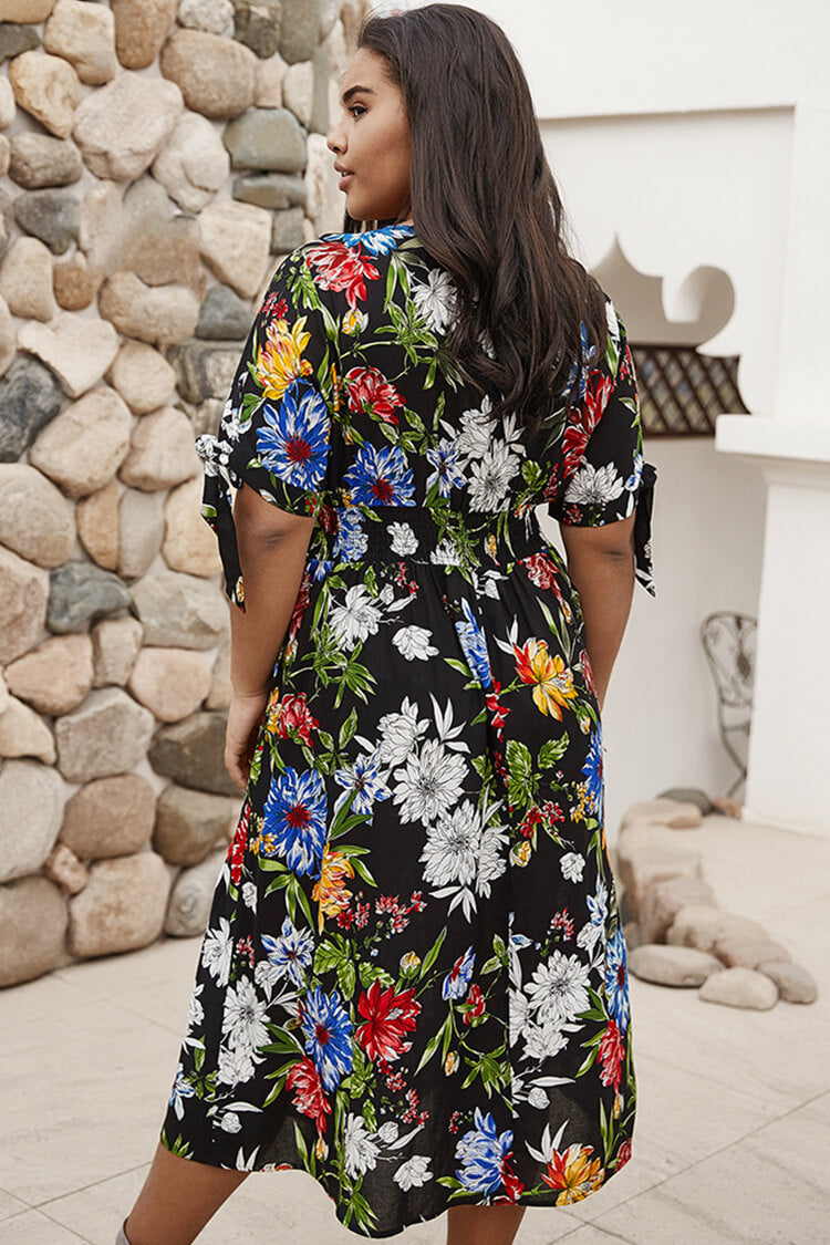 Plus Size Floral Summer Dresses for Women