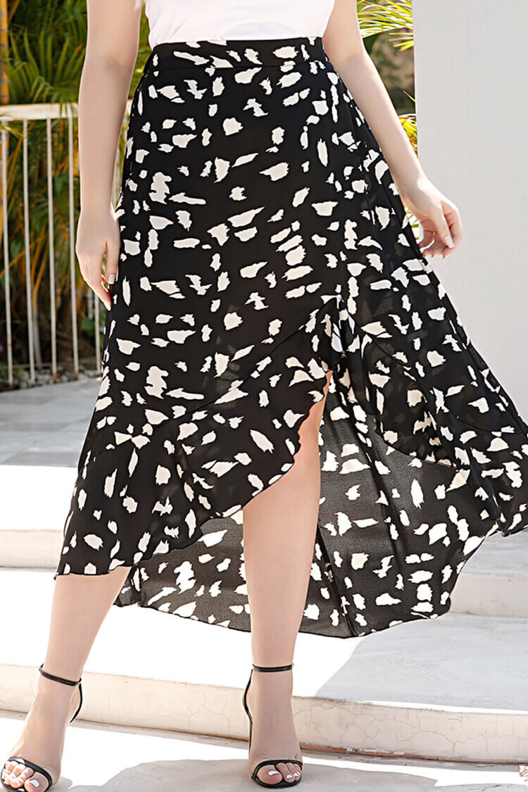 Plus Size Floral Tulle Skirt for Women