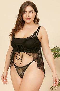 Plus Size Sexy Bra Set Lace Lingerie
