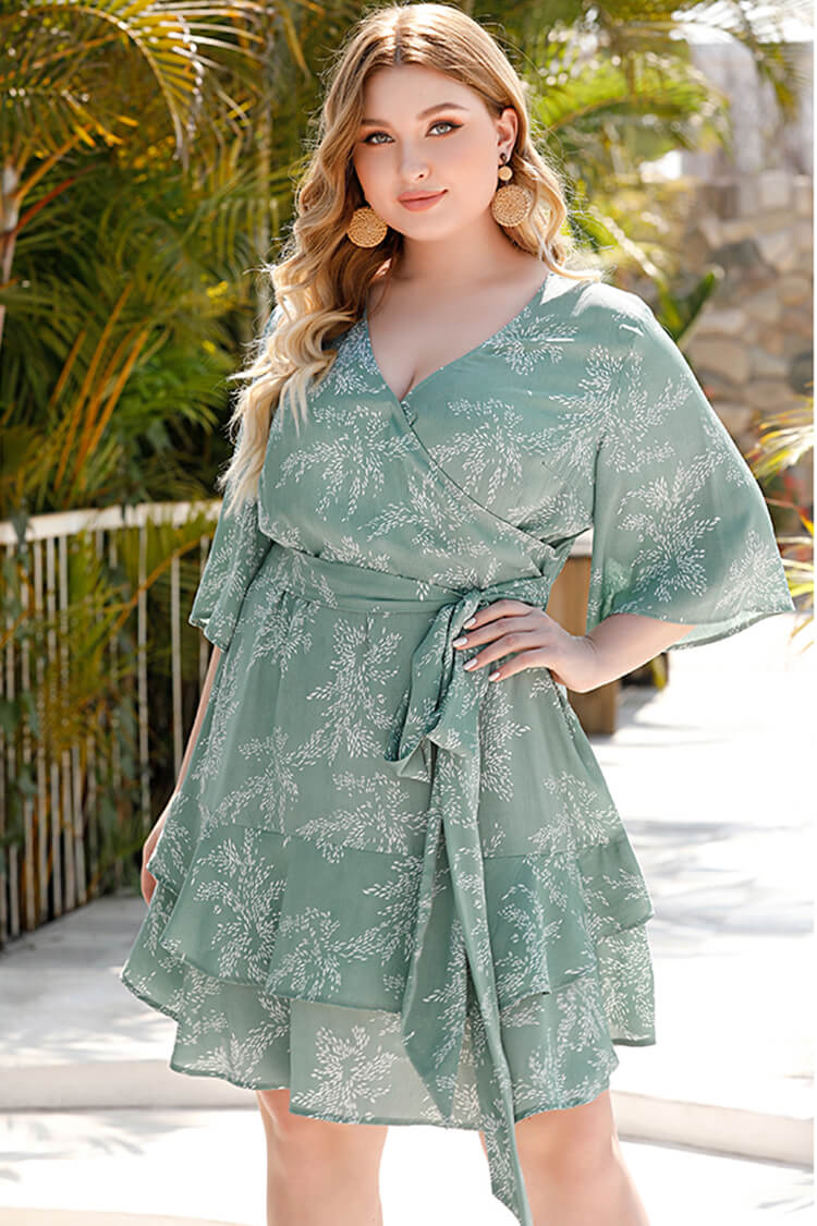 Plus Size Summer Casual Mini Floral Dress