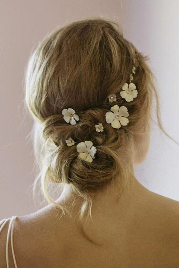 Stylish Gold-plated Flower Shape Hairpin