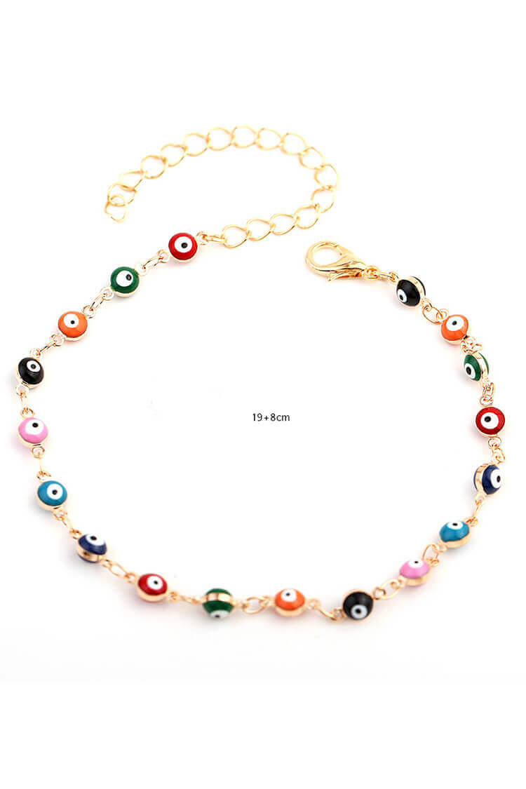 Stylish Mix Color Eyes Summer Anklet