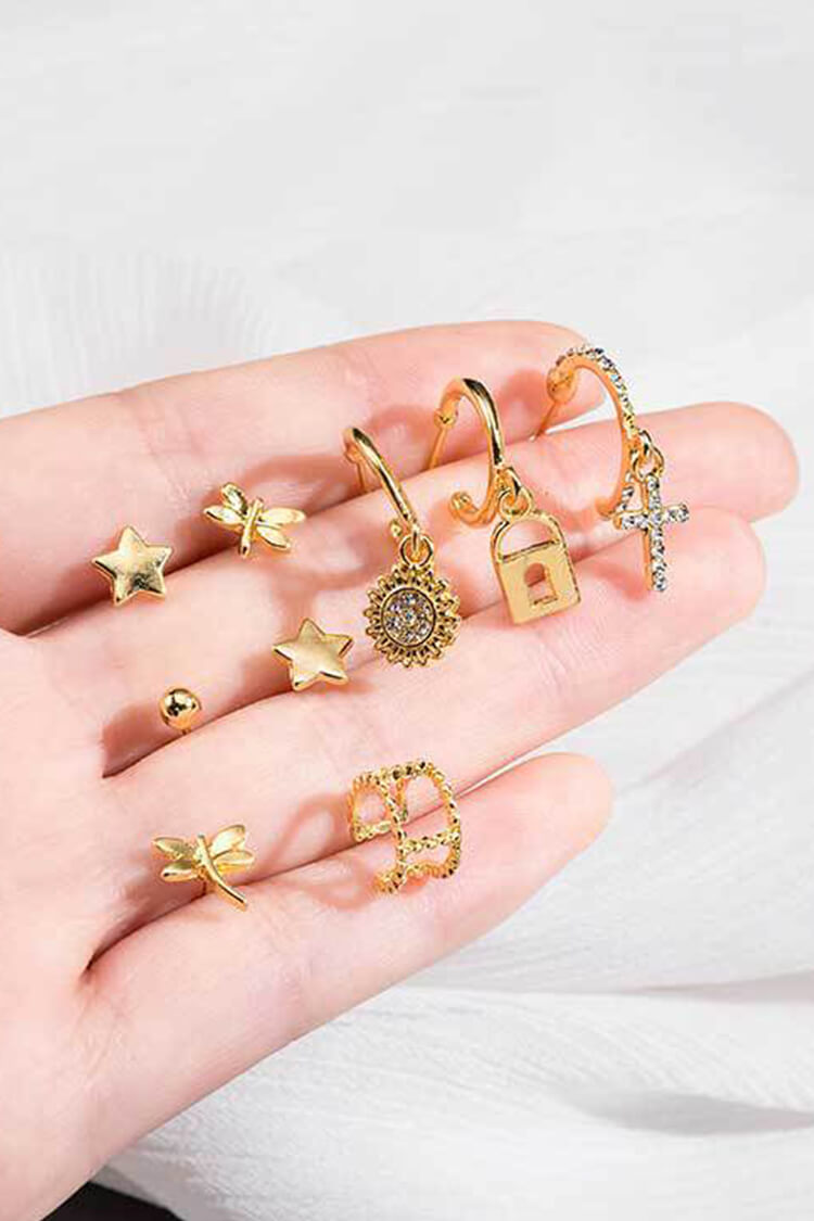 Stylish Sun&Star Earring Set