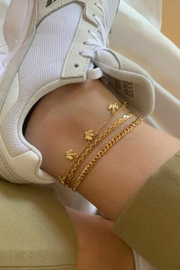 Trendy Butterfly Decor Anklet