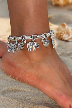 Women's Elephant Heart Shape Anklet