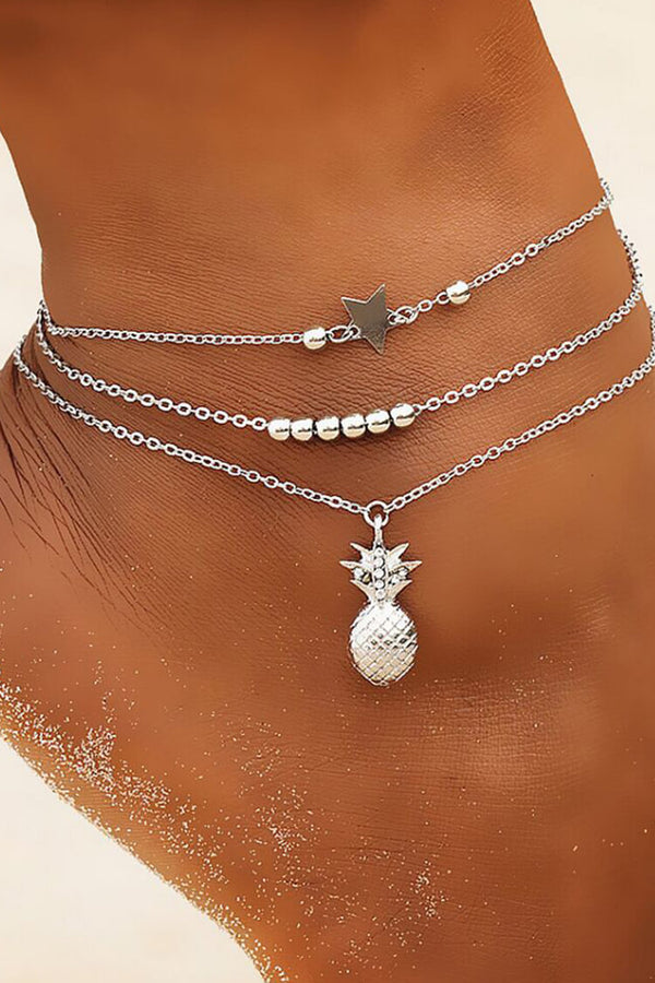 Women's Pineapple Pendant Anklet