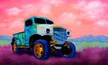 "Load image into Gallery viewer, Death Wagon. 48"" x 30"" oil on canvas."