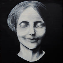 "Load image into Gallery viewer, L'Inconnue de la Seine (The Unknown Woman of the Seine) 24"" x 24"" on cavnas"