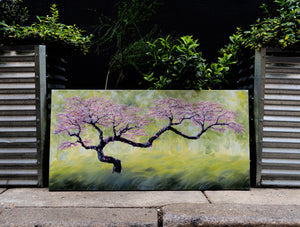 "Sprung! 24"" x 48"" oil on canvas"