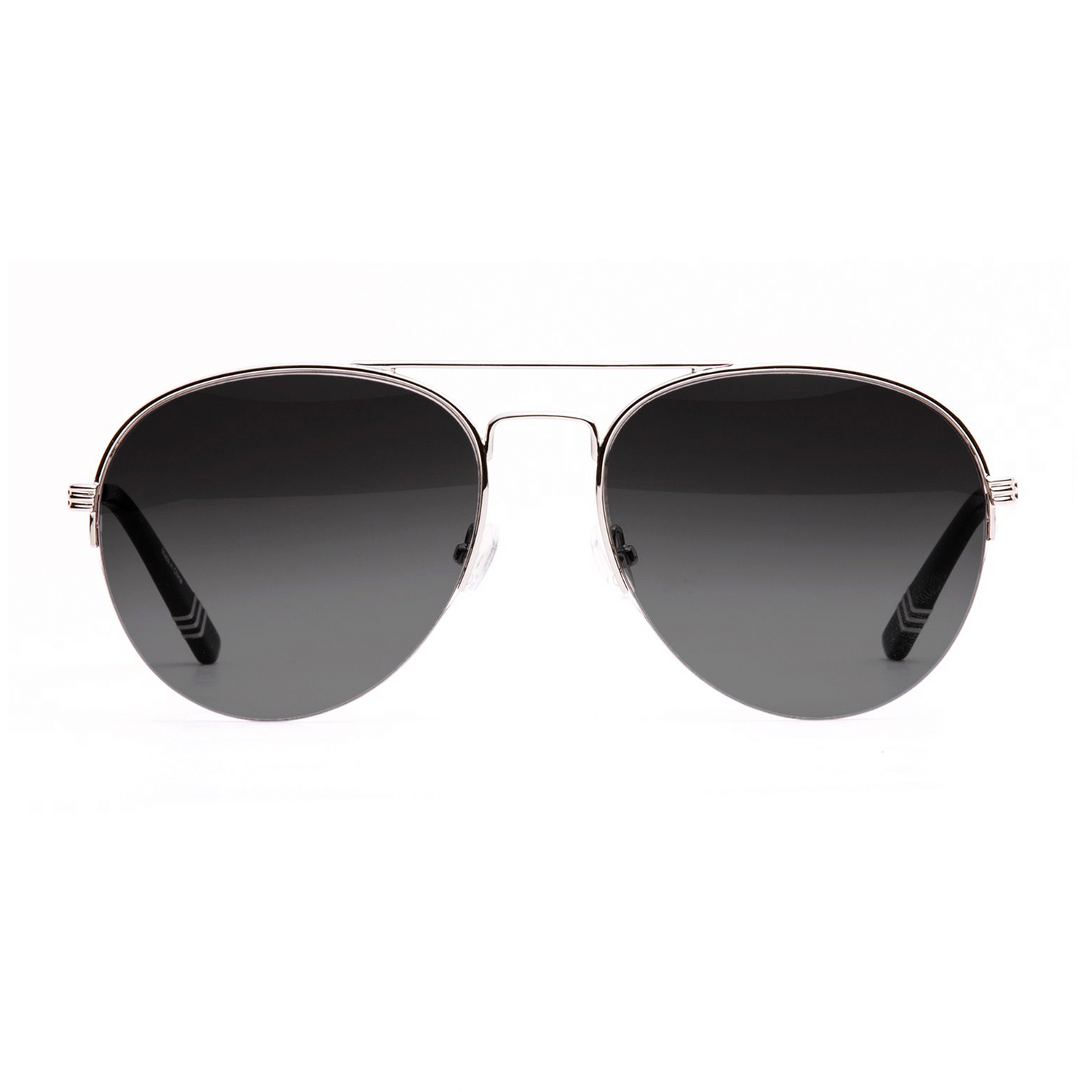 silver-frames-with-black-gradient-lenses-and-black-acetate-temple-tips