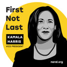 """First Not Last"" VP Kamala Harris Commemorative Sticker"