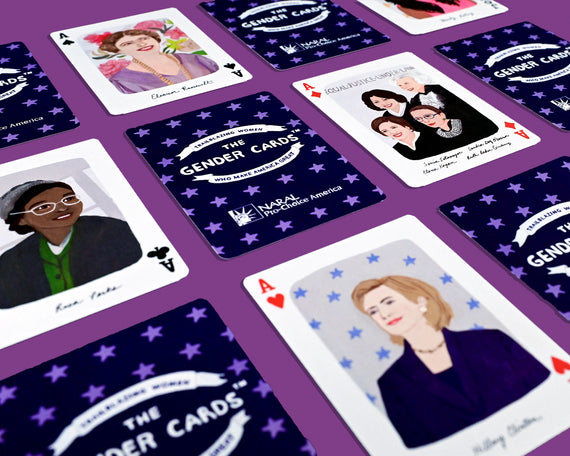 NARAL Custom Commissioned Gender Playing Cards