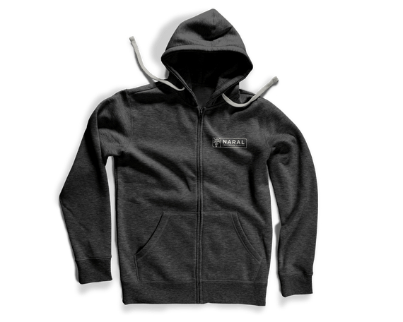 NOW $10 OFF! Pro-Freedom, Pro-Justice, Pro-Choice Zip Hoodie - Grey