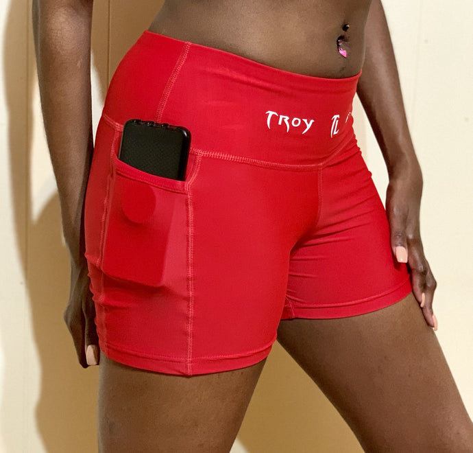 Troy Luxor Pocket High Waist Hip Hop Shorts