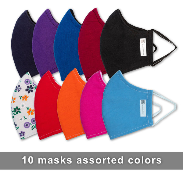 10 pack of masks assorted colors
