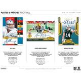 2018 Panini Plates & Patches Football Hobby Case 12 Box PYT #1