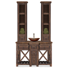 Ivy Reclaimed Wood Bathroom Vanity with Twin Towers