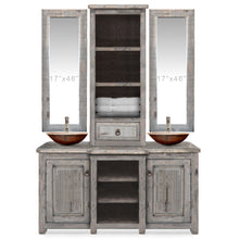 Lea Reclaimed Wood Bathroom Vanity with Tower