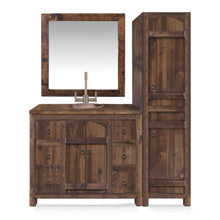 Victoria Reclaimed Wood Bathroom Vanity with Linen Cabinet