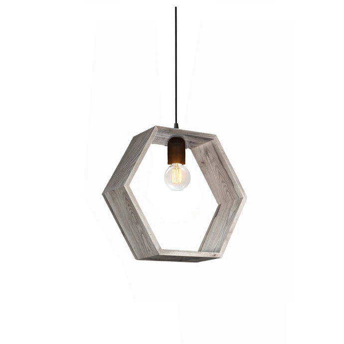 Aubrey Reclaimed Wood Single Light Pendant