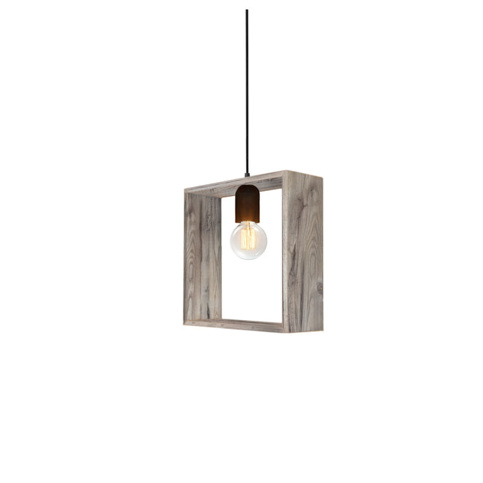 Abbe Reclaimed Wood Single Light Pendant