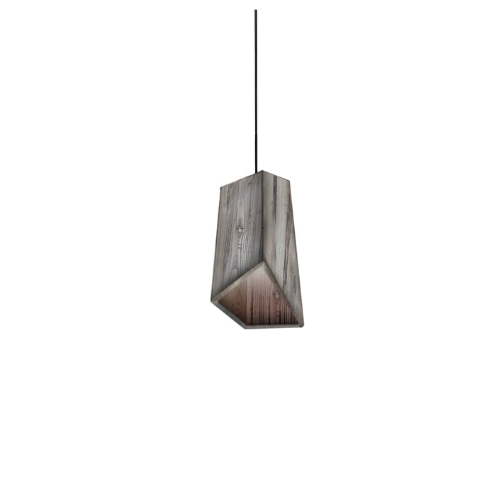 Baie Reclaimed Wood Single Light Pendant
