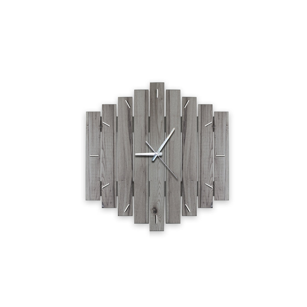 Arlette Reclaimed Wood Clock