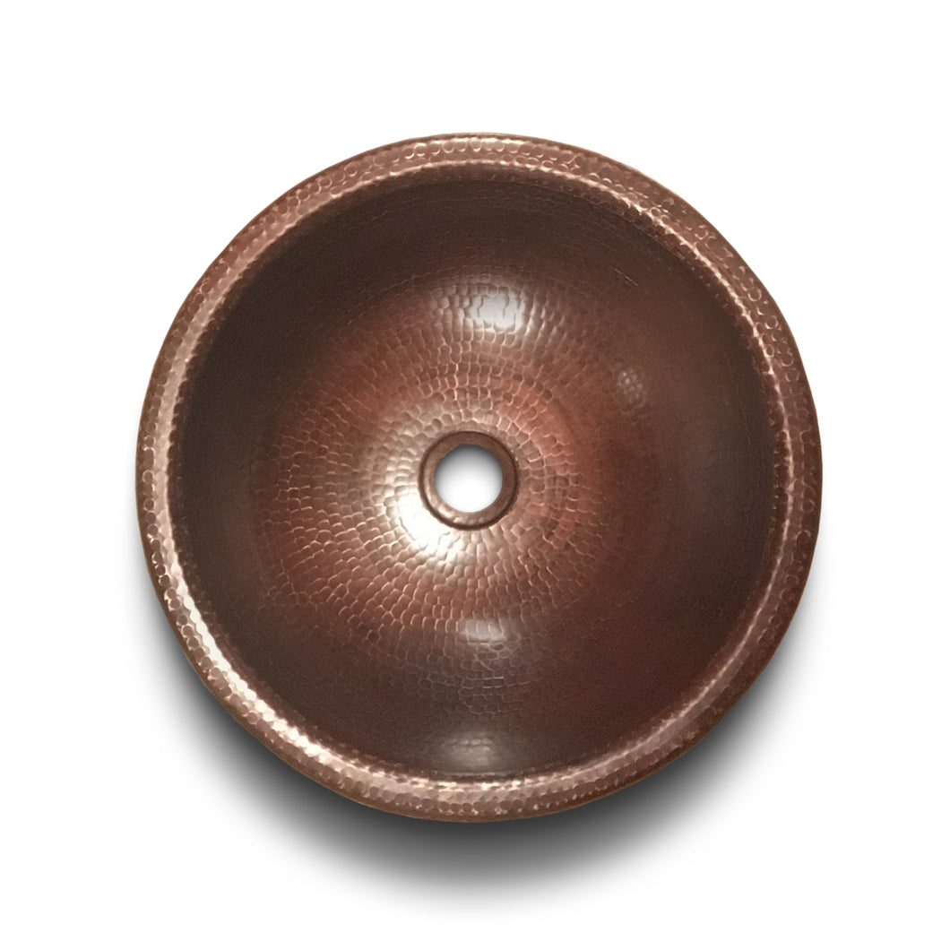 Round Copper Drop in Sink