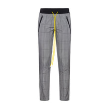 Christos Plaid Tek Trouser with yellow string on Well(un)known wellunknown.com