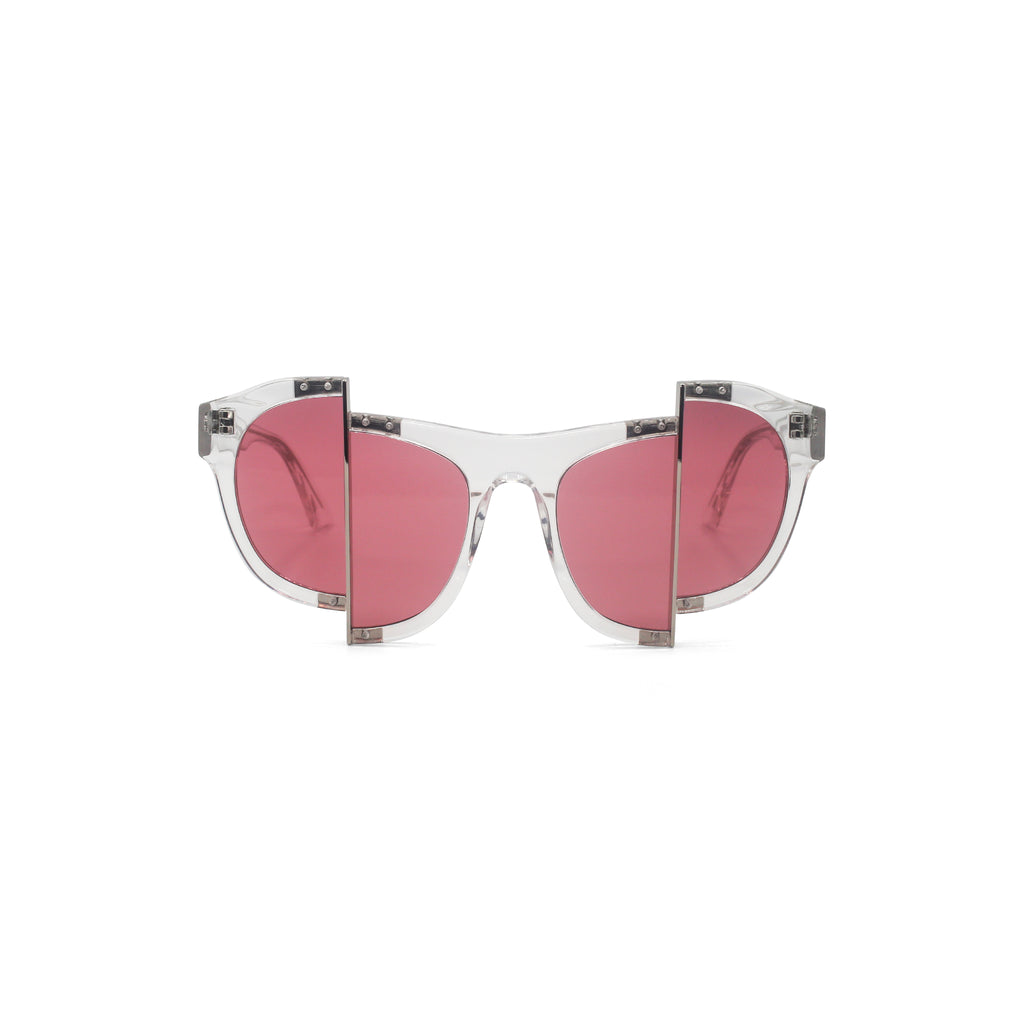 Percy Lau Clear Rose Red Sunglasses on Well(un)known Available at wellunknown.com