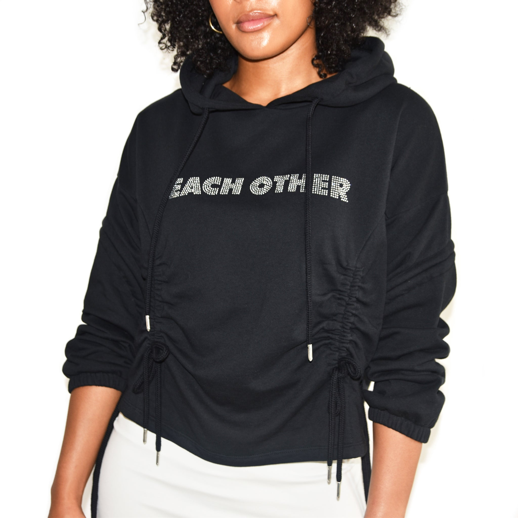Each x Other Diamond Logo Hoodie Black