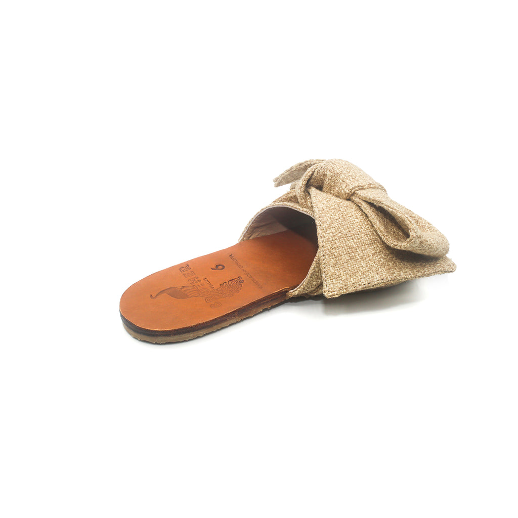 Brother Vellies Burkina Sandal Natural on Well(un)known Available at wellunknown.com