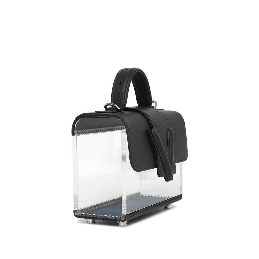 Valas See Thru Clara Bag in Black and Clear on Well(un)known Available at wellunknown.com