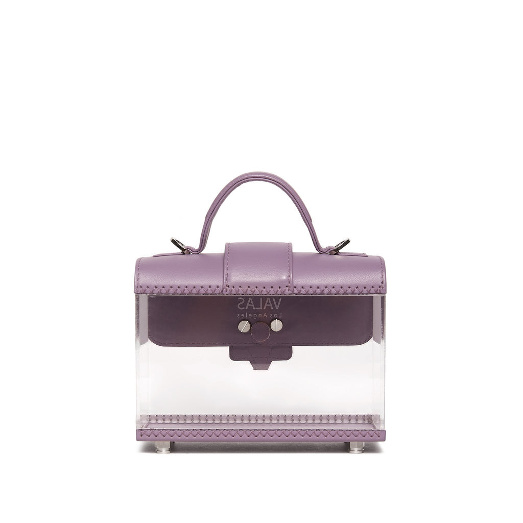 Valas See Thru Clara Bag in Lilac and Clear on Well(un)known Available at wellunknown.com