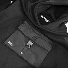 Christos Ops Black Parka Hoodie with front chest pocket on Well(un)known wellunknown.com