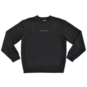 Habits Studios Essentials Black Crewneck Sweatshirt on Well(un)known Available on Well(un)known.com