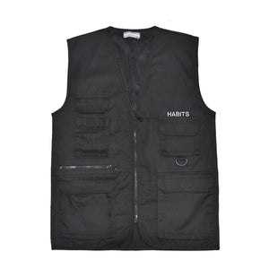 Habits Studios Utility Jacket Vest in Black on Well(un)known wellunknown.com
