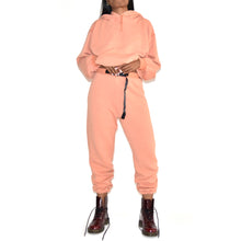 John Elliott's Vintage Fleece Peach Belted Sweatpants on Well(un)known Available at wellunknown.com