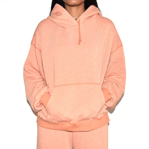 John Elliott Women's Vintage Fleece Peach Hoodie on Well(un)known Available at wellunknown.com