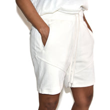 John Elliott Women's White Escobar Sweat Shorts on Well(un)known Available on wellunknown.com