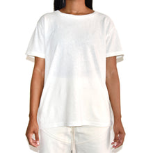 John Elliott Womens White Jersey Relaxed Tshirt on Well(un)known Wellunknown.com