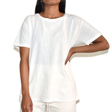 John Elliott Womens White Jersey Relaxed Tee on Well(un)known Wellunknown.com