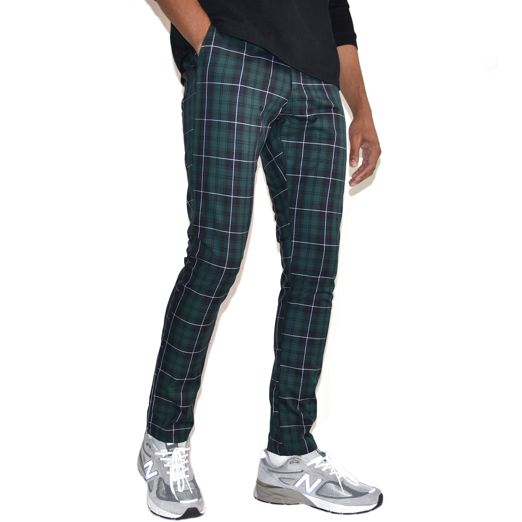 Christos West Trousers Blue Green Plaid on Well(un)known wellunknown.com