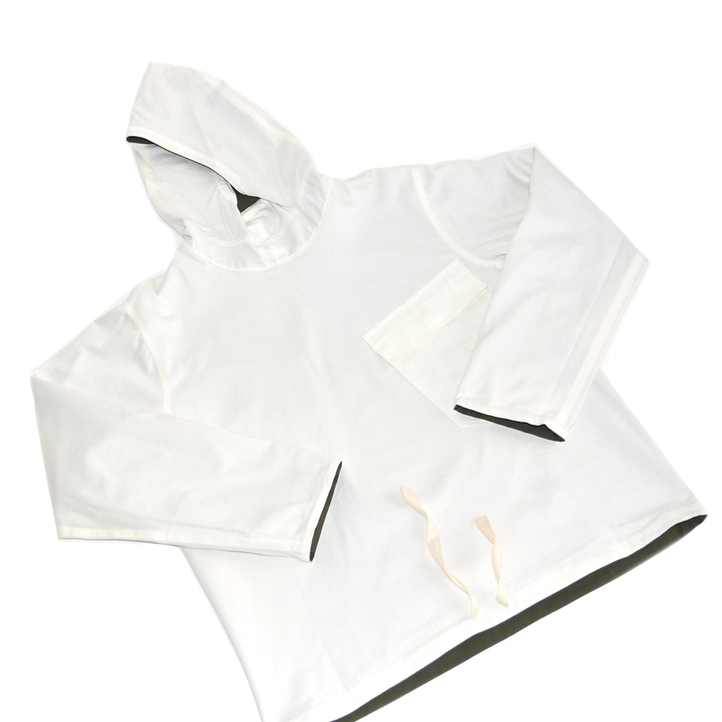 Personal Effects White Reversible Deck Smock on Well(un)known Available on Wellunknown.com