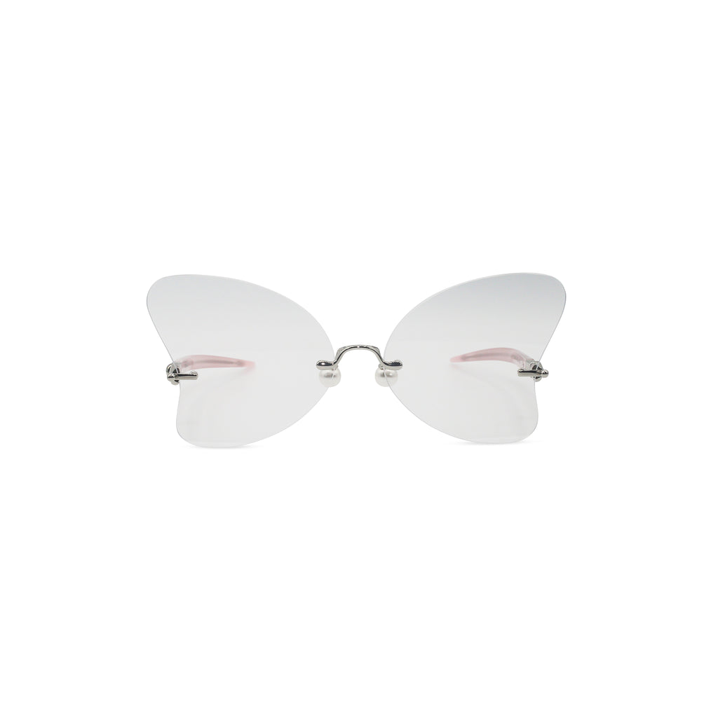 Percy Lau Dada Child Heart Sunglasses in clear on Well(un)known Available at wellunknown.com