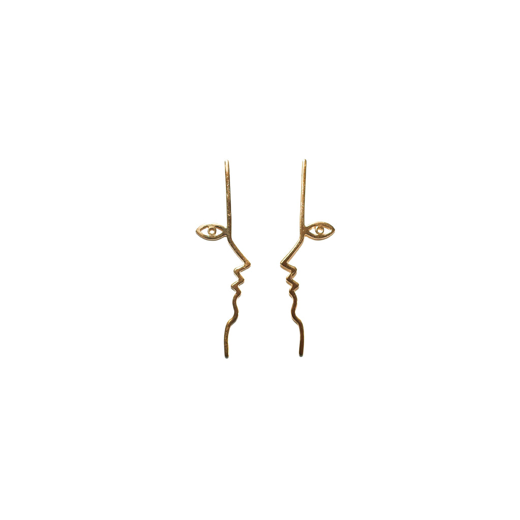 Mara Paris Dina Earrings Vermeil on Well(un)known Accessories available on wellunknown.com