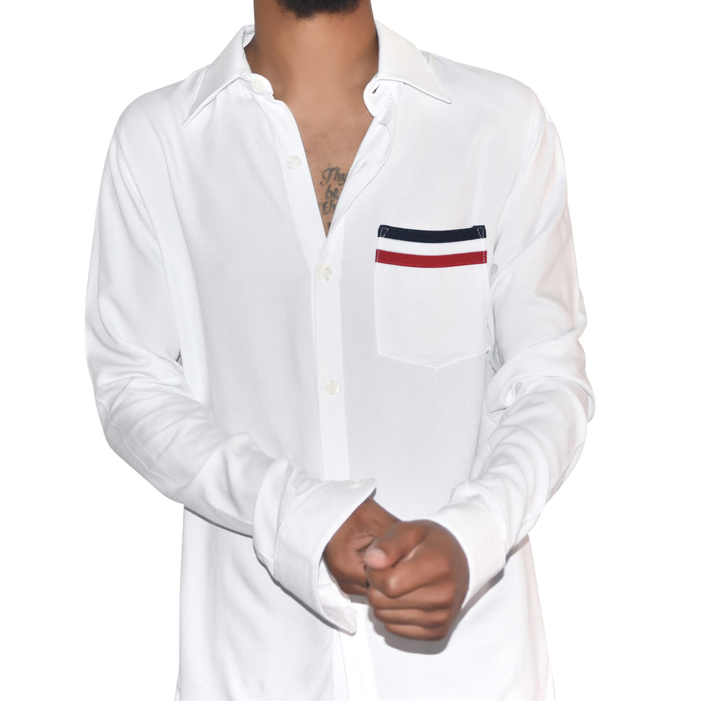 Christos Kennedy White Tailored Shirt on Well(un)known wellunknown.com