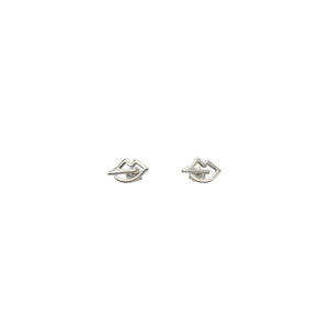 Lips Earrings Sterling Silver