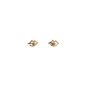 Lips Earrings Vermeil